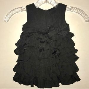 Old Navy ruffled black dress with bow